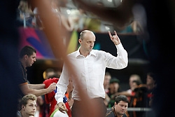 09.09.2014, City Arena, Barcelona, ESP, FIBA WM, Slowenien vs USA, im Bild Slovenia's coach Zdovc Jure // during FIBA Basketball World Cup Spain 2014 match between Slovenia and USA at the City Arena in Barcelona, Spain on 2014/09/09. EXPA Pictures © 2014, PhotoCredit: EXPA/ Alterphotos/ Acero<br /> <br /> *****ATTENTION - OUT of ESP, SUI*****