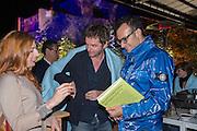 CHIARA VECCHIRELLI; ANRI SALA; VADMIM GRIGORIAN, Absolut Art Bureau Dinner at Base 13. Documenta ( 13 ), Kassel, Germany. 14 September 2012.