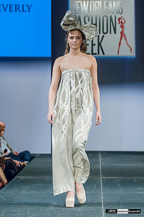 NEW ORLEANS FASHION WEEK 2015: New Orleans Fashion Week with Designer De' Andre Beverly showcasing his design at the New Orleans Board of Trade on Wednesday March 25th, 2015. ©2015, Gustavo Escanelle, All Rights Reserved. ©2015, MOI MAGAZINE, All Rights Reserved.