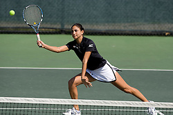 Miami's Romy Farah in the #1 doubles match.  The #12 ranked Miami Hurricanes defeated the #50 ranked Virginia Cavaliers in women's tennis 6-1 at the University of Virginia's Snyder Tennis Center in Charlottesville, VA on March 22, 2008.