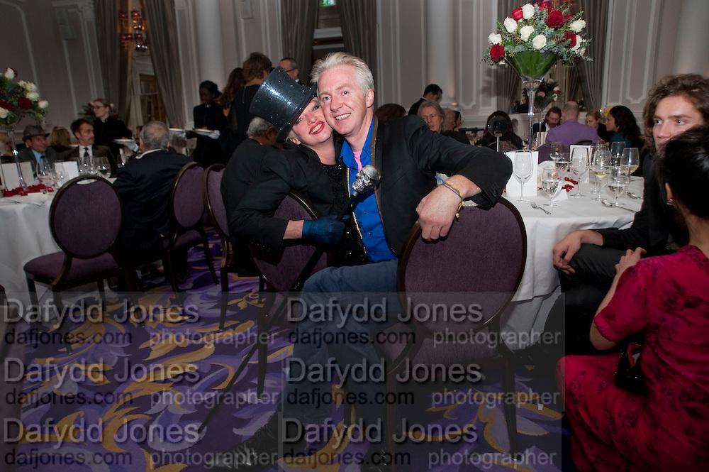 URSULA FLANERY; PHILIP TREACY, , Liberatum 10th Anniversary dinner in honour of Sir Peter Blake. Hosted by Pable Ganguli and Ella Krasner. The Corinthia Hotel, Whitehall. London. 23 November 2011.