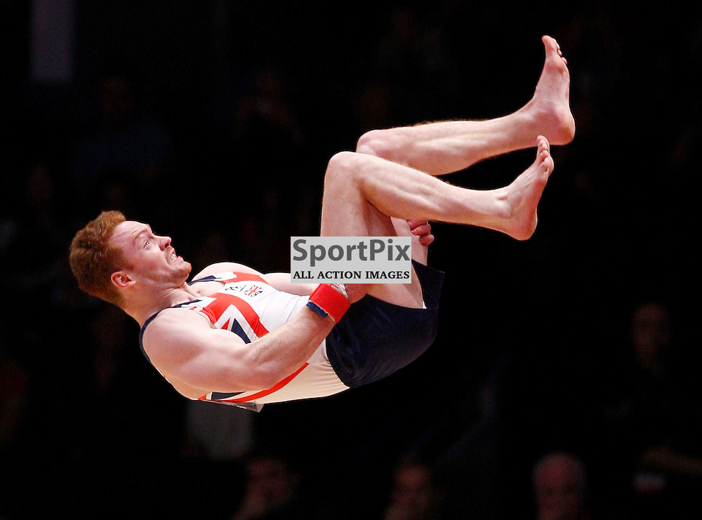 2015 Artistic Gymnastics World Championships being held in Glasgow from 23rd October to 1st November 2015.....Great Britain's Daniel Purves performs in the Floor Exercise on Day 1 of the Women's & Men's Apparatus Final...(c) STEPHEN LAWSON | SportPix.org.uk