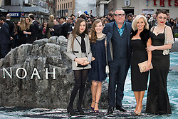 Ray Winstone and his family and a friend arrive for the UK premiere of the film 'Noah', Odeon, London, United Kingdom. Monday, 31st March 2014. Picture by Daniel Leal-Olivas / i-Images