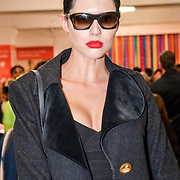 Denise Dame is a Slovene model Attendees at the Graduate Fashion Week 2019 - Day Three, on 4 June 2019, Old Truman Brewery, London, UK.