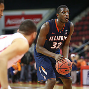 Nnanna Egwu #32 of the Illinois Fighting Illini prepares to take a free-throw during the NIT First Round game at Agganis Arena on March 19, 2014 in Boston, Massachusetts . (Photo by Elan Kawesch)