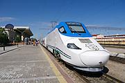 Uzbekistan, Samarqand. The Afrosiyob High-Speed Train to Tashkent.