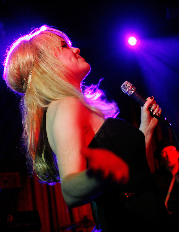 NEW YORK - MARCH 17:  Singer Duffy performs live at Hiro Ballroom on March 17, 2008 in New York City.  (Photo by Joe Kohen/WireImage)