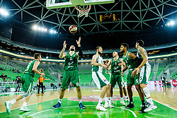 During basketball match between KK Union Olimpija Ljubljana and KK Krka, postponed Round#2 of ABA League 2016/17, on December 5, 2016 in Arena Stozice, Ljubljana Slovenia. Photo by Grega Valancic / Sportida