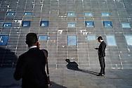 Bagnoli, Italia - 8 novembre 2011. La moderna struttura dell'hub di Bagnoli sorto all'interno dell'ex area industriale dell'ILVA. La riqualificazione dell'area, dopo 20 anni, è ancora da compiersi. Con l'arrivo di due tappe della celebre competizione velica dell'America's Cup nello specchio d'acqua compreso tra Nisida e Pozzuoli, si spera in un'accelerazione del processo di bonifica e riqualificazione del territorio. si  Ph. Roberto Salomone Ag. Controluce.ITALY - A view of the modern hub built inside former industrial area of ILVA in the district of Bagnoli. The area should be requalified after more than 20 years of abandon. Two rounds of the America's Cup sailing competition will be hosted in Bagnoli in the next months; this should give a boost to the requalification of the entire area.