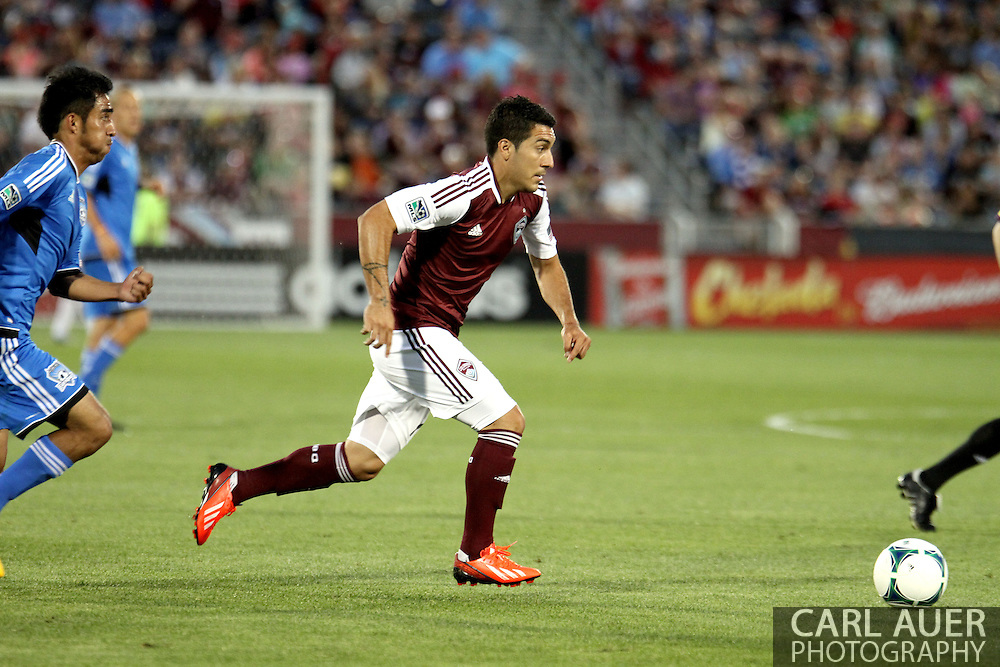 June 15th, 2013 - Colorado Rapids midfielder Martin Rivero (10) brings the ball across the field in second half action of the MLS match between San Jose Earthquake and the Colorado Rapids at Dick's Sporting Goods Park in Commerce City, CO