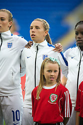 CARDIFF, WALES - Tuesday, August 21, 2014: England's Jordan Nobbs lines-up before the FIFA Women's World Cup Canada 2015 Qualifying Group 6 match against Wales at the Cardiff City Stadium. (Pic by Ian Cook/Propaganda)