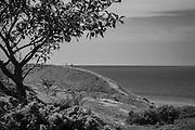 Västra kusten på södra Gotland inte lång från Hoburgen.