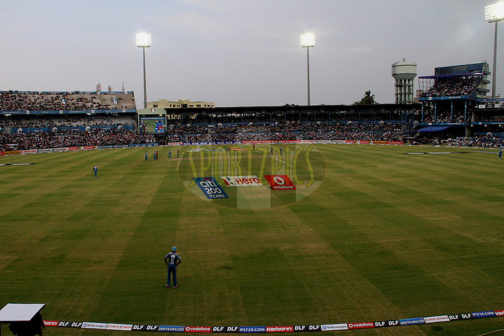 A view of stadium during match 42 of the the Indian Premier League ( IPL) 2012  between The Deccan Chargers and the Pune Warriors India held at the Barabati Stadium, Cuttack on the 1st May 2012..Photo by: Prashant Bhoot/IPL/SPORTZPICS