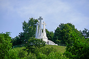 hill of three crosses, Kalnai Park, in the Old Town, Vilnius, Lithuania,