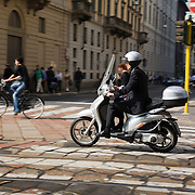 Two wheel travel, Milan, Italy<br />