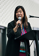 Tina Chang from SysLogic at the Wisconsin Entrepreneurship Conference at Venue 42 in Milwaukee, Wisconsin, Tuesday, June 4, 2019.