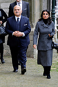 De koninklijke familie en tal van vrienden, bekenden en collega's van prins Friso zijn samengekomen in de Oude Kerk in Delft om de op 12 augustus overleden prins Friso te herdenken. <br /> <br /> The royal family and many friends, acquaintances and colleagues of Prince Friso are in the Old Church in Delft to commemorate the Prince who past away on August 12 2013.<br /> <br /> Op de foto / On the photo:  Prins El Hassan Bin Talal van Jordanie