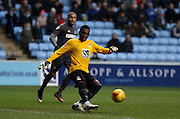 Coventry City Goalkeeper Reice Charles-Cook during the Sky Bet League 1 match between Coventry City and Bury at the Ricoh Arena, Coventry, England on 13 February 2016. Photo by Chris Wynne.