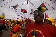 MPLA supporters  during a political raly at November 11 Stadium in Luanda on 29 August. Elections will take place on 31 August
