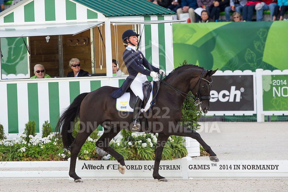 Mina Telde, (SWE), Santana - Grand Prix Special Dressage - Alltech FEI World Equestrian Games&trade; 2014 - Normandy, France.<br /> &copy; Hippo Foto Team - Leanjo de Koster<br /> 25/06/14