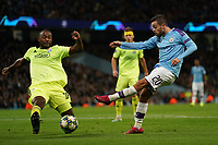 Manchester City's Bernardo Silva under pressure from Kevin Theophile-Catherine of Dinamo Zagreb<br /> <br /> Football - 2019 / 2020 UEFA Champions League - Champs Lge Grp C: Man City-D Zagreb<br /> <br /> , at Etihad Stadium<br /> <br /> Colorsport / Terry Donnelly
