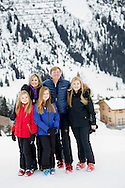 Lech, 27-2-2017 <br /> <br /> Wintersport photo session of King Willem-Alexander and Queen Maxima, Princess Amalia, Princess Alexia and Princess Ariane <br /> <br /> PUBLICATION ONLY IN FRANCE<br /> <br /> <br /> COPYRIGHT: ROYALPORTRAITS EUROPE/ BERNARD RUEBSAMEN
