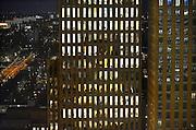 Nederland, Amsterdam, 28-1-2013Serie beelden van de zuidas en rondweg a10 vanuit een hoge lokatie, het anb-amro gebouw.Het pensioenfonds APG in het Symphony-gebouw in het financiele centrum. The pension fund APG at the financial centre. Foto: Flip Franssen/Hollandse Hoogte