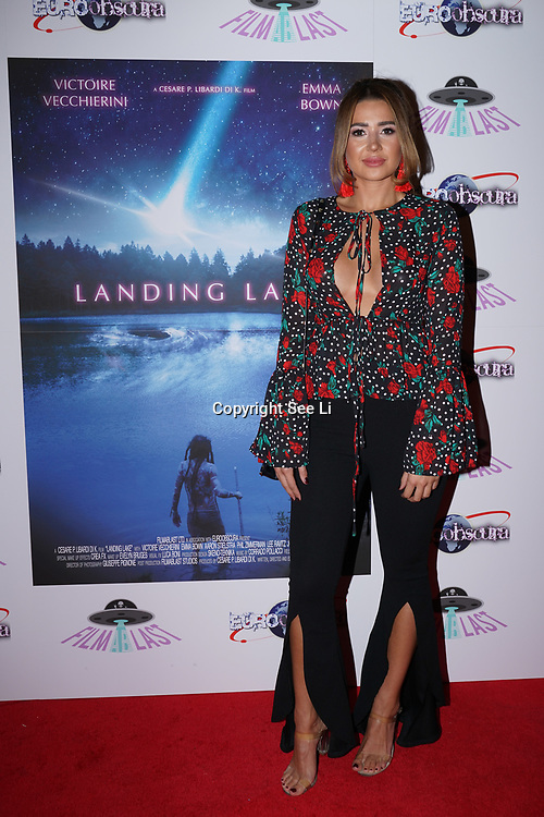 London, England, UK. 14th September 2017.Maddie Hopper attend the Landing Lake Film Premiere at Empire Haymarket,London, UK.
