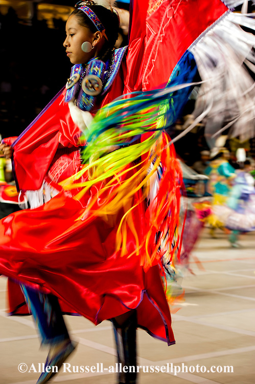 Gathering of Nations Pow Wow, Fancy Shawl Dancer, Albuquerque, New Mexico