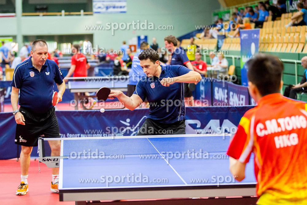 (Team CRO) JOZIC Pavao and REGOROVIC Vjekoslav in action during 15th Slovenia Open - Thermana Lasko 2018 Table Tennis for the Disabled, on May 10, 2018 in Dvorana Tri Lilije, Lasko, Slovenia. Photo by Ziga Zupan / Sportida