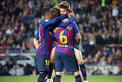 December 5, 2018 - Barcelona, Spain - Denis Suarez goal celebration during the match between FC Barcelona and Cultural Leonesa, corresponding to the 1/16 final of the spanish King Cuo, played at the Camp Nou Stadium on 05th December 2018 in Barcelona, Spain. Photo: Joan Valls/Urbanandsport /NurPhoto. (Credit Image: © Joan Valls/NurPhoto via ZUMA Press)
