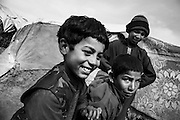 Young boys at the IDP Charahi Qambar refugee camp.