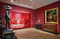 France, Côte-d'Or (21), Paysage culturel des climats de Bourgogne classés Patrimoine Mondial de l'UNESCO, Dijon, Musée des Beaux-Arts dans l'ancien palais des ducs de Bourgogne, Yan Pei Ming // France, Burgundy, Côte-d'Or, Dijon, Beaux-Art museum, peinture d'après Goya de Yann Pei Ming