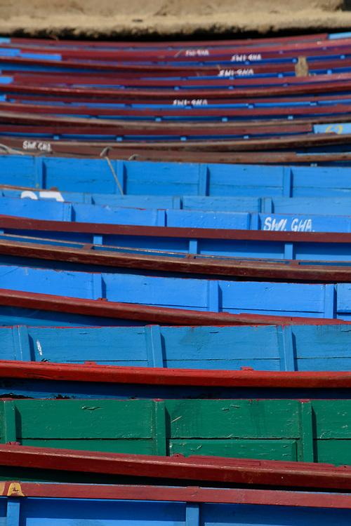 Boats on the Lake at Lakeside Lake Pewa, Pokhara, Nepal