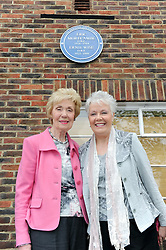 © Licensed to London News Pictures. 19/05/2013.Morecambe and Wise Plaque unveiling..Teddington Studios London  Plaque unveiling to Eric Morecambe and Ernie Wise (19.05.2013)..Eric Morecambe's daughter & wife, Gail & Joan Morecambe. .Photo credit :Grant Falvey/LNP