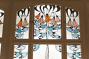 Museum Künstlerkolonie im Ernst-Ludwig-Haus, Mathildenhöhe, Jugendstil-Glasfester von Mackay Hugh Baillie-Scott, Jugendstil, Darmstadt, Hessen, Deutschland | Centre of Art Noveau on Mathildenhoehe, Darmstadt, Germany