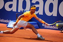 April 25, 2018 - Barcelona, Catalonia, Spain - Rafa Nadal against Roberto Carballes Baena during the Barcelona Open Banc Sabadell, on 25th April 2018 in Barcelona, Spain. (Credit Image: © Joan Valls/NurPhoto via ZUMA Press)