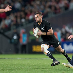 Aaron Cruden  during game 7 of the British and Irish Lions 2017 Tour of New Zealand, the first Test match between  The All Blacks and British and Irish Lions, Eden Park, Auckland, Saturday 24th June 2017<br /> (Photo by Kevin Booth Steve Haag Sports)<br /> <br /> Images for social media must have consent from Steve Haag