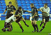 © Peter Spurrier/Intersport Images .Tel + 441494783165 email images@Intersport-images.com.30/11/2003 - Photo  Peter Spurrier.2003/04 Zurich Premiership Rugby - London Irish v Sale Sharks.Exiles Nick Kennedy looks for the gap