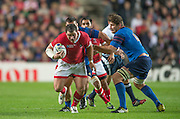 Milton Keynes, Great Britain, Hooker, Aaron CARPENTER, on the run with the ball during the Pool D Game, France vs Canada.  2015 Rugby World Cup, Venue, StadiumMK, Milton Keynes, ENGLAND.  Thursday  01/10/2015<br /> Mandatory Credit; Peter Spurrier/Intersport-images]