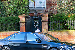 A mercedes driver enters Robbie Williams' property in Melbury Road, next door to which Led Zeppelin's Jimmy Page and the Solo mega-star and former Take That member Robbie Williams are locked in a bitter planning dispute over Williams' plans for an 'iceberg' basement under his home in West London's posh Holland Park. London, December 17 2018.