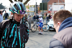 Cecilie Uttrup Ludwig (DEN) recovers after Gent Wevelgem - Elite Women 2019, a 136.9 km road race from Ieper to Wevelgem, Belgium on March 31, 2019. Photo by Sean Robinson/velofocus.com