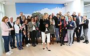Koningin Maxima bezoekt de bijeenkomst Meer Kansen van het Oranjefonds. Met het programma worden meer kansen aan jongeren geboden<br /> <br /> Queen Maxima attends the meeting More Opportunities of the Orange Fund. The program offers more opportunities for young people