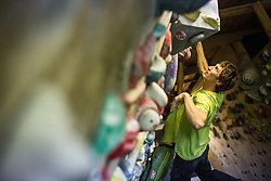 Domen Skofic during national championship in boulder climbing on November 30, 2014 in Kranj, Slovenia. (Photo By Grega Valancic / Sportida)