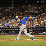 Kris Bryant, Chicago Cubs, batting during the New York Mets Vs Chicago Cubs MLB regular season baseball game at Citi Field, Queens, New York. USA. 30th June 2015. Photo Tim Clayton