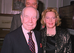 PRINCE & PRINCESS SIGVARD BERNADOTTE, he is the oldest living relative of Queen Victoria, at a reception in London on 19th March 1998.MGF 39
