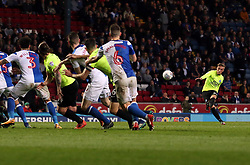 George Cooper of Peterborough United shoots at goal - Mandatory by-line: Joe Dent/JMP - 19/04/2018 - FOOTBALL - Ewood Park - Blackburn, England - Blackburn Rovers v Peterborough United - Sky Bet League One