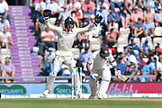 Jos Buttler of England appeals for an lbw against Virat Kohli (captain) of India which is given not out during the 4th day of the 4th SpecSavers International Test Match 2018 match between England and India at the Ageas Bowl, Southampton, United Kingdom on 2 September 2018.