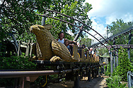 Flight of the Hippogriff roller coaster. The Wizarding World of Harry Potter Theme Park.  Universal Orlando Resort.