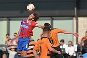 Christian Doidge of Dagenham and Redbridge  taket the ball during the Sky Bet League 2 match between Barnet and Dagenham and Redbridge at Hive Stadium, London, England on 26 September 2015. Photo by Ian Lyall.
